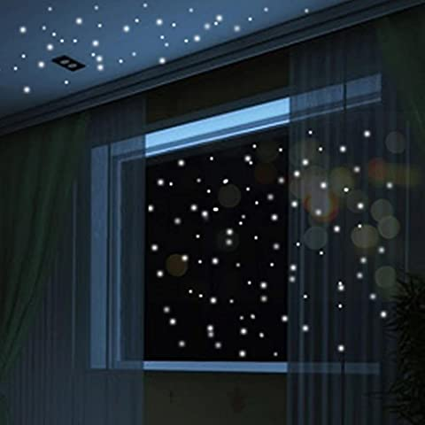 TWIFER Glow In The Dark Star Wall Stickers 407Pcs Round