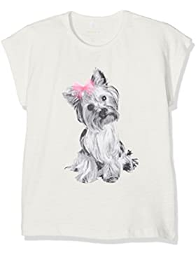 name it  Mädchen T-Shirt Hund mit Schleife Nitefalulas