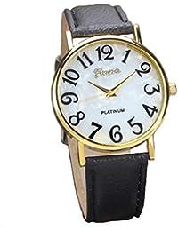 Relojes Pulsera Mujer,Xinan Digital Retro Dial Cuero Banda Relojes de Cuarzo (Negro)
