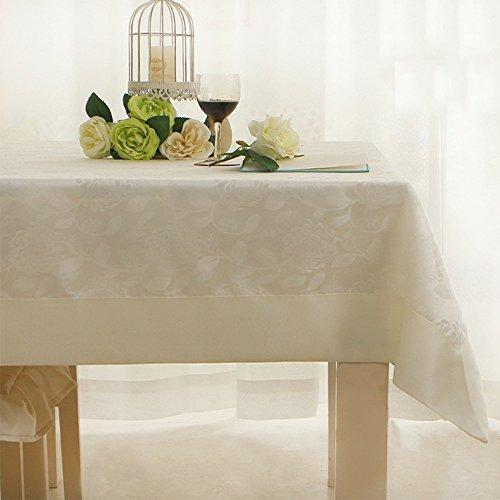 Imperméable nappe Nappe imperméable à l'éponge Tissu à la nappe Rectangulaire Nappe au salon Nappe à la maison Nappe au table basse (2 couleurs en option) (120 * 120cm) pour dîner ( Couleur : A )