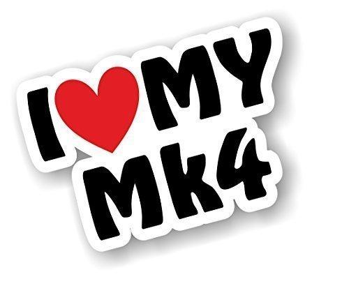I love Herz Luv My MK4Design für MK4Escort Fiesta Golf Astra etc. Auto-Aufkleber Vinyl Aufkleber 110x 75mm (Luv-wrap)