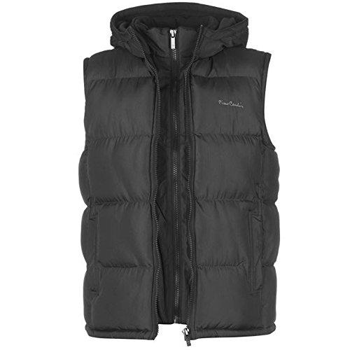 Pierre Cardin due zip gilet da uomo antracite senza maniche giacca gilet da uomo, Charcoal, S