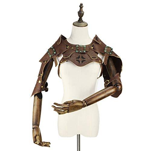 MAGAI Halloween Cosplay Steampunk Gothic Guard Rüstung Körper Brustgeschirr Schulter Rüstungen Zubehör Dekor Beefy und Aggressive Look Club Wear Kostüme