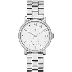 Marc Jacobs MBM3242 - Reloj con correa de metal, para mujer, color blanco/plateado
