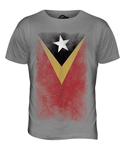 CandyMix Osttimor Verblichen Flagge Herren T Shirt Hellgrau
