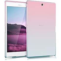 kwmobile Étui Sony Xperia Tablet Z3 Compact - Étui pour Tablette Sony Xperia Tablet Z3 Compact - Housse en Silicone Fuchsia-Bleu-Transparent