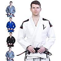 Vector Brazilian Jiu Jitsu (BJJ) Gi Kimono, vorgeschrumpft, geringes Gewicht, in Pearl-Weave gewebt, 100% Baumwolle, aus der Attila-Serie, mit kostenlosem weißen Gürtel