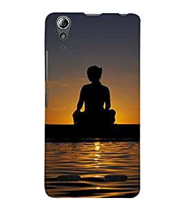 SHADOW PICOF MEDITATION BY THE RIVER SIDE AT SUNSET 3D Hard Polycarbonate Designer Back Case Cover for Lenovo A6000