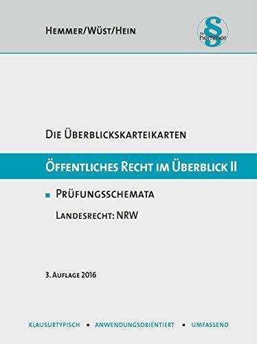 Öffentliches Recht im Überblick II - Landesrecht NRW (Karteikarten - Öffentliches Recht) by Karl E. Hemmer (2016-02-16)