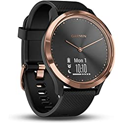 Garmin Vívomove HR - Smartwatch, Color Beige y Negro