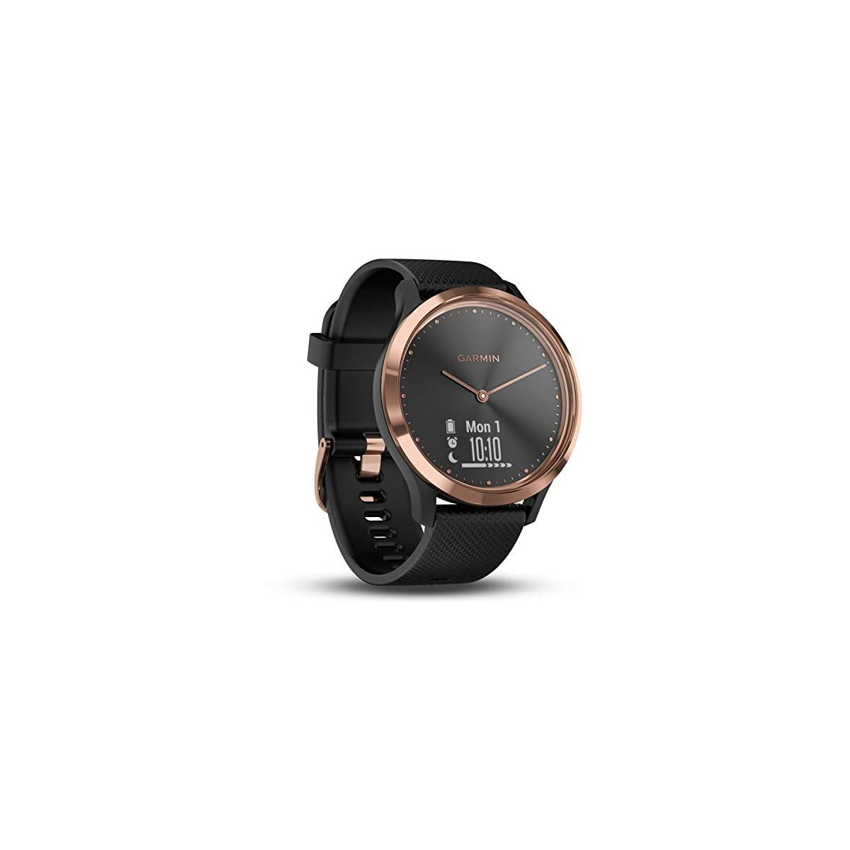 41BYH4XiwAL. SS1200  - Garmin Vívomove HR-   Reloj híbrido con pantalla oculta y agujas,  correa de silicona negra