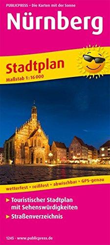 Nürnberg: Touristischer Stadtplan mit Sehenswürdigkeiten und Straßenverzeichnis. 1:16000 (Stadtplan/SP)