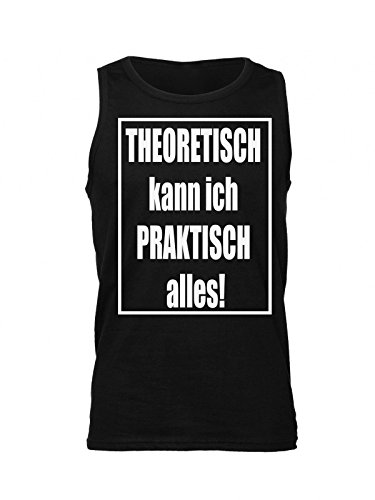 Theoretisch Kann Ich Praktisch Alles! Men's Tank Top Shirt Small