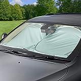 Vintoney Car Windshield Sun Shade - Blocks UV Rays Sun Visor Protector, Sunshade
