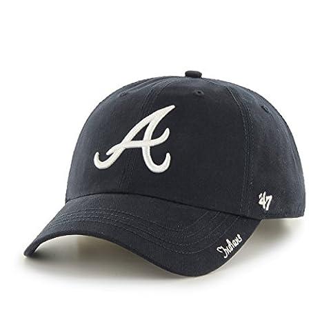 MLB Atlanta Braves Women's '47 Miata Clean Up Adjustable Hat, Navy