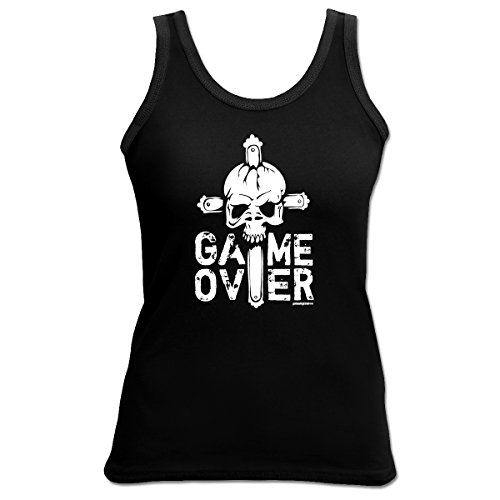 Damen Tank Top Shirt Game over 4 Girls Beach Tanktop Geschenk geil bedruckt Goodman Design Schwarz