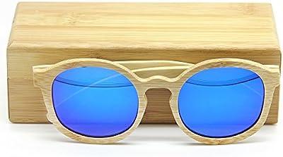 yushuangyi lujo hecho a mano 100% madera de bambú gafas de sol polarizadas gafas Retro de bambú