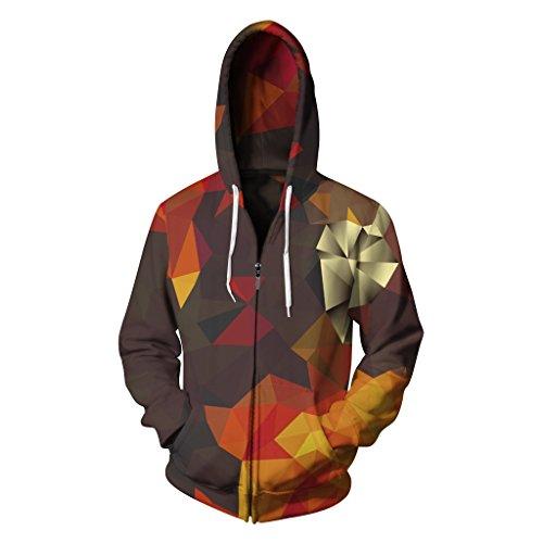 AMOMA Herren Kapuzenpullover Zip Sweatshirt Hoodie Pullover Reißverschluss(Small/Medium,Diamond) Diamond Hoodie Pullover