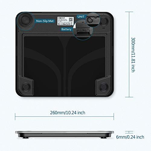 Bilancia Pesa Persona Digitale, BMI, Grasso Corporeo, Massa Ossea 180kg / 400lb