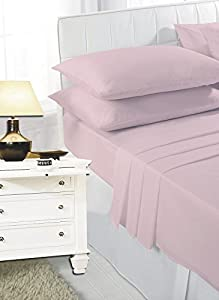 Luxury PollyCotton Plain Flat Sheet Or Pillow Pair