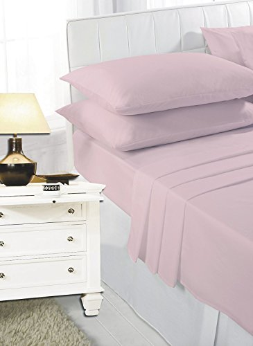 Comfy Nights Pollycotton Pair Of Pillow cases (Pink)
