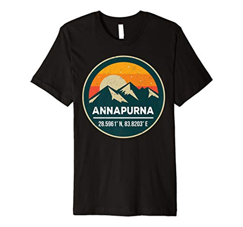 Annapurna-massiv Mountain mit GPS Outdoor T-Shirt