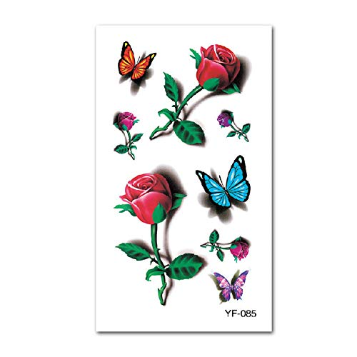 Wasserdichter Tattoo-Aufkleber English Letter Butterfly Tattoo-Aufkleber Wasserdichter Sticker Sicher Ungiftig Leicht zu reinigen @ YF-085_10X6CM (Butterfly Halloween-kostüm Ideen)