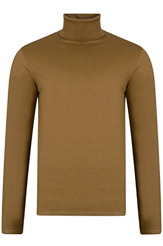 Threadbare Herren Designer Priestfield Rollkragen Top Tobacco - Brown
