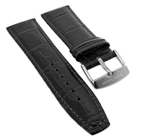 Bruno Banani ? Ersatzband 20mm aus Leder in schwarz Kroko Optik ? CD1191 CD1192