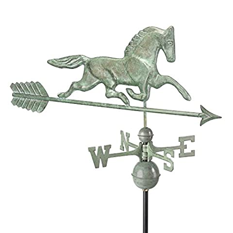 Good Directions 623V1A Large Patchen Horse with Arrow Weathervane Blue Verde Copper