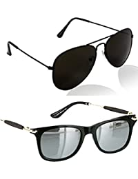 2a690c3f9b Younky Combo Of Uv Protected Aviator Silver Mercury Sunglasses For Men  Women Boys   Girls (