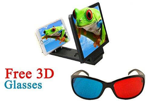 Evana 3D Screen Magnifying Enlarger for iPhone 6, 6S 6Plus 5s 5c 5, iPad Air Air2 mini mini2 mini3, iPad 4th gen, iPod touch 5th gen, and iPod nano 7th gen (Black)