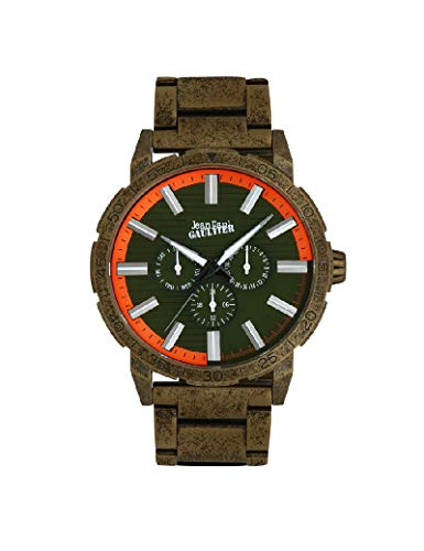 Jean-Paul Gaultier - Reloj de Acero para Hombre, Color Gris
