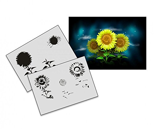 umr-design-as-191-sunflower-airbrushschablone-step-by-step-grosse-m
