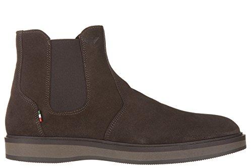 Armani Jeans stivaletti stivali uomo in camoscio marrone EU 42 935013 6A400 04552