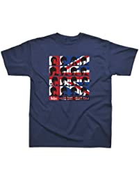 Beatles Licensed Printed T Shirt Navy - Hard days night