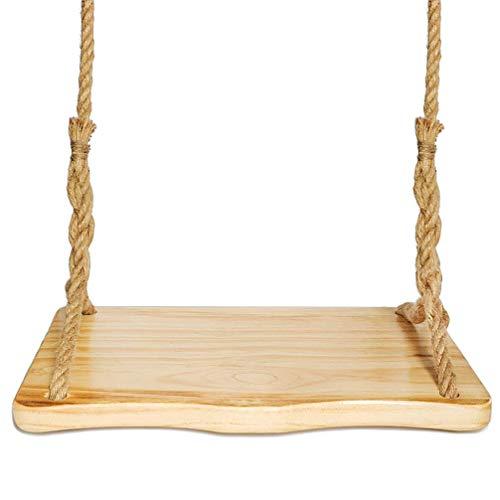 Aoneky Holz Schaukelsitz, Brettschaukel, Baumschaukel & Kinderschaukel aus Holz, Kindergeschenk, Geburtstagsgeschenk, Kinderspielzeug, für Erwachsene und Kinder, 60 x 35 x 3cm(Kiefer Holz)