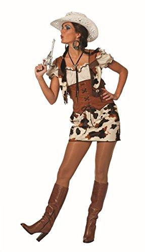 Western Damen Kostüm Cowgirl Kleid Karneval Fasching - Sexy Cow Girl Kostüm