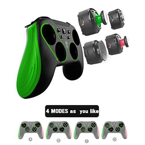 BestOff Wireless Controller für Switch/PC/Android/Tablet/Mobiltelefon,modulares Gamepad Mit Austauschbaren 3D Joystick Modulen,Anpassbaren Programmierbaren Turbo-Funktionstasten und Rückseitentaste