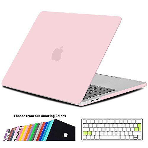 iNeseon MacBook Pro 13 Hülle Case 2018/2017/2016, Hartschale Cover mit EU/ohne Touch Bar, Modell A1989/A1706/A1708, Rosenquarz - Pro-fall Matt Fall Macbook 13