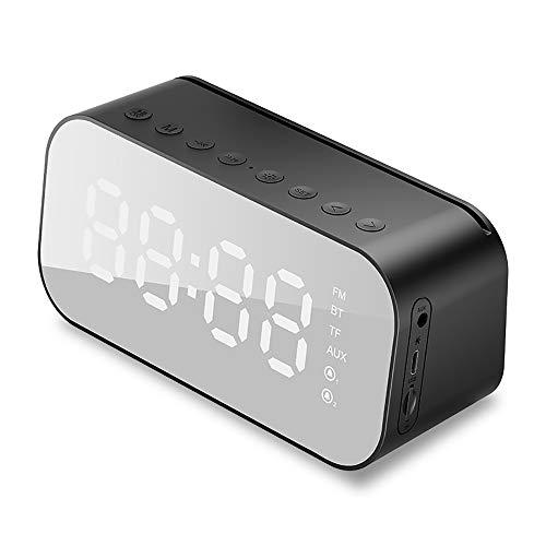 JJJ Tragbarer Bluetooth-Lautsprecher, kabelloser Wecker, LED-Anzeigetemperatur mit Unterstützung für FM-Radio, TF-USB-Musik-Player M3 (Cd Dusche Radio)