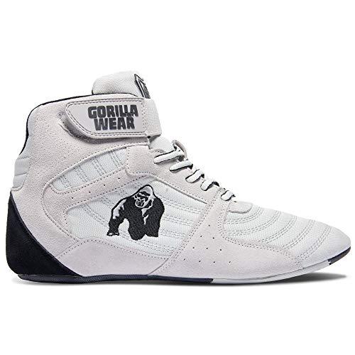 Gorilla Wear Fitness Schuhe Herren - Perry High Tops - Bodybuilding Gym Sportschuhe White 43 EU