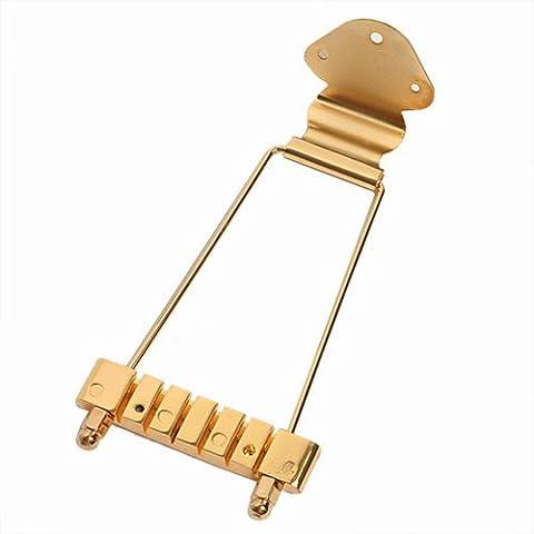 Kmise trapecio cordal para Vintage Archtop bajo de 6cuerdas Guitarra partes de repuesto oro