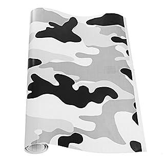 JenNiFer Schwarz Und Weiß Camo Auto Motorrad Vinyl Film Wrap Aufkleber Camouflage Aufkleber Spiegel DIY Styling - 10 * 152 cm