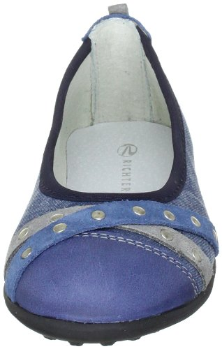 Richter Kinderschuhe 72.3017.1911, Ballerines fille Bleu (Atlantic/Rock/Pacific)