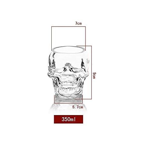 Tête de mort Tête Vodka Whisky Creative Verre de vin 350 ML claire