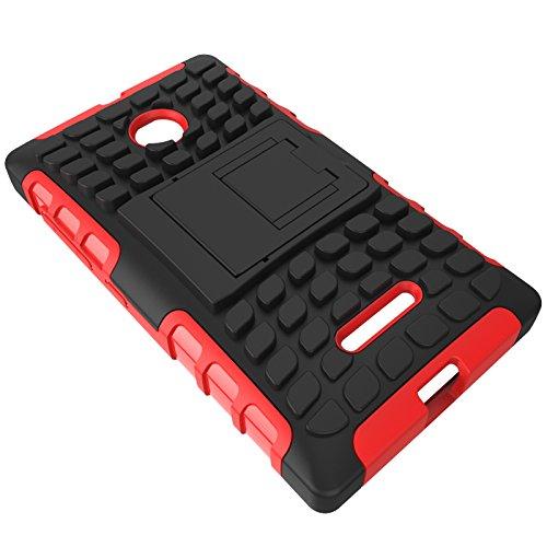 YHUISEN Lumia 435 Case, Dual Layer Rüstung Stoßdämpfender Schutzhülle mit Kickstand Für Microsoft Lumia 435 ( Color : Pink ) Pink
