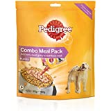Pedigree Puppy Dog Food Dry and Gravy Combo Meal Sample Pack, Chicken, 180g