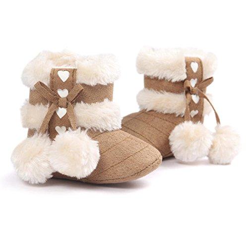 Fulltime® Bottes bébé doux berceau Chaussures enfant bottes Kaki