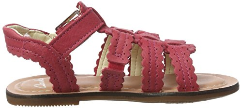 Clarks Loni Moon Inf, Spartiates fille Rose (Pink)
